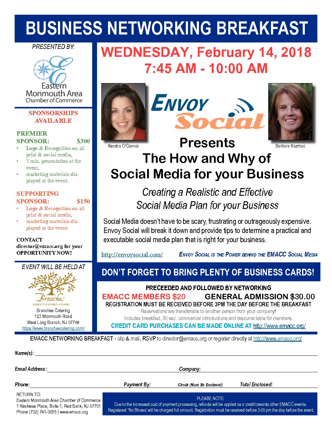 Business Networking Breakfast 2-14-2018