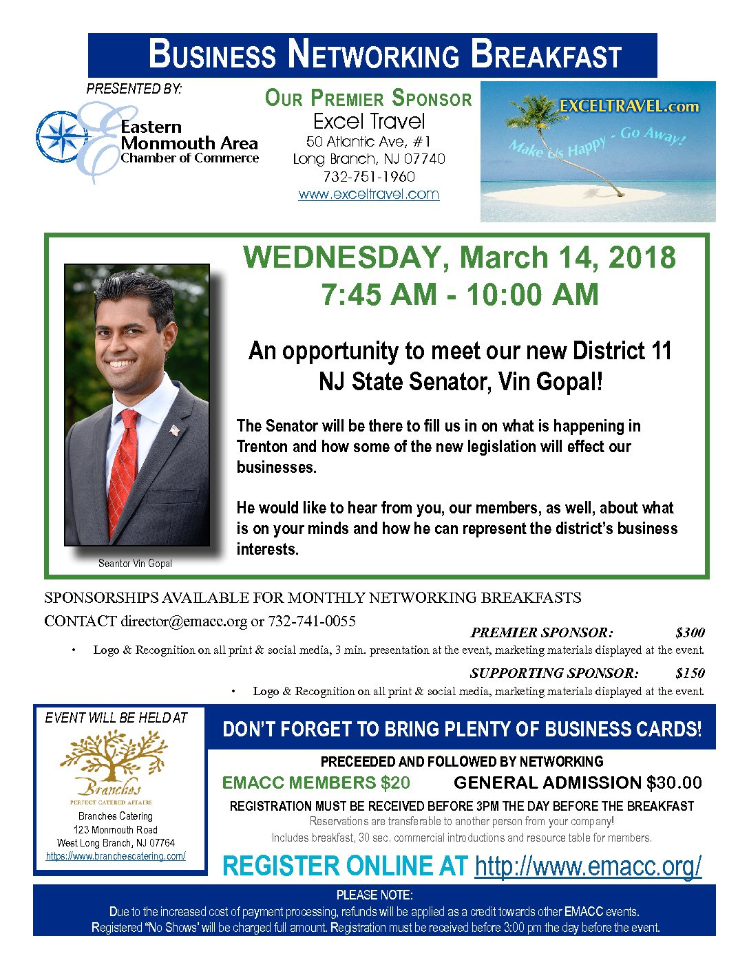 Business Networking Breakfast 3-14-2018